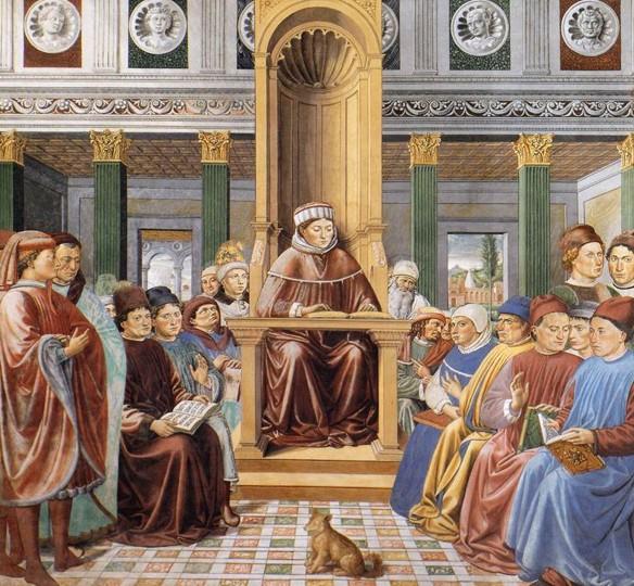 Santo Agostinho ensinando em Roma, de Benozzo Gozzoli