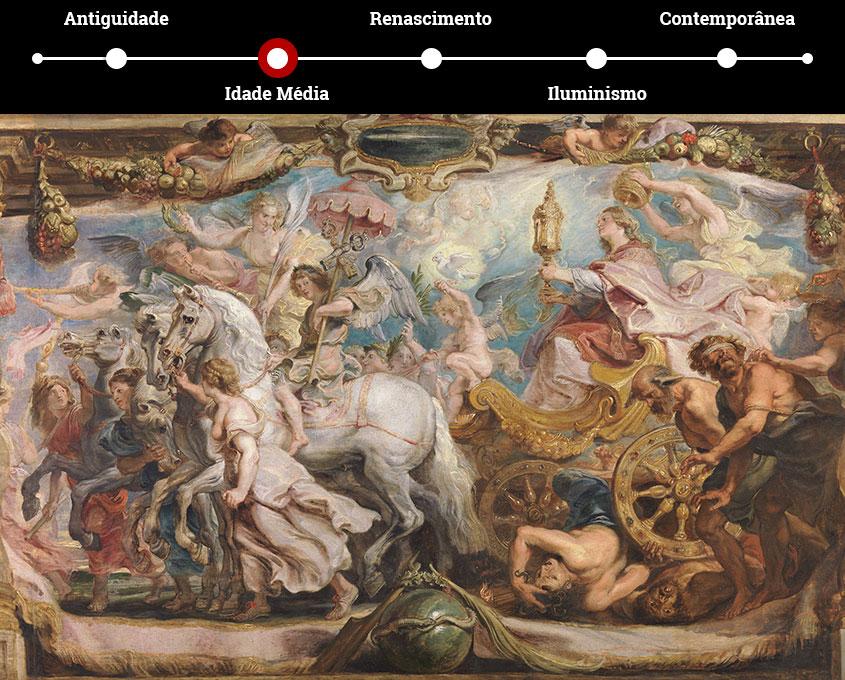"""""""O Triunfo da Igreja"""", tela de Peter Paul Rubens"""
