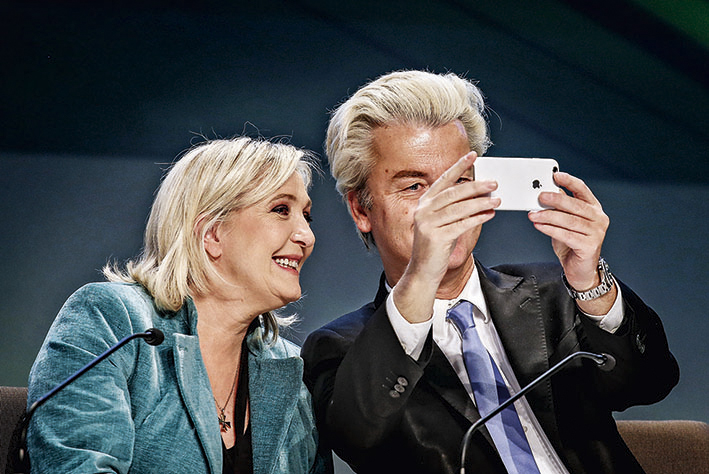 Marine Le Pen, da França, e Geert Wilders, da Holanda, são líderes da extrema direita em seus países