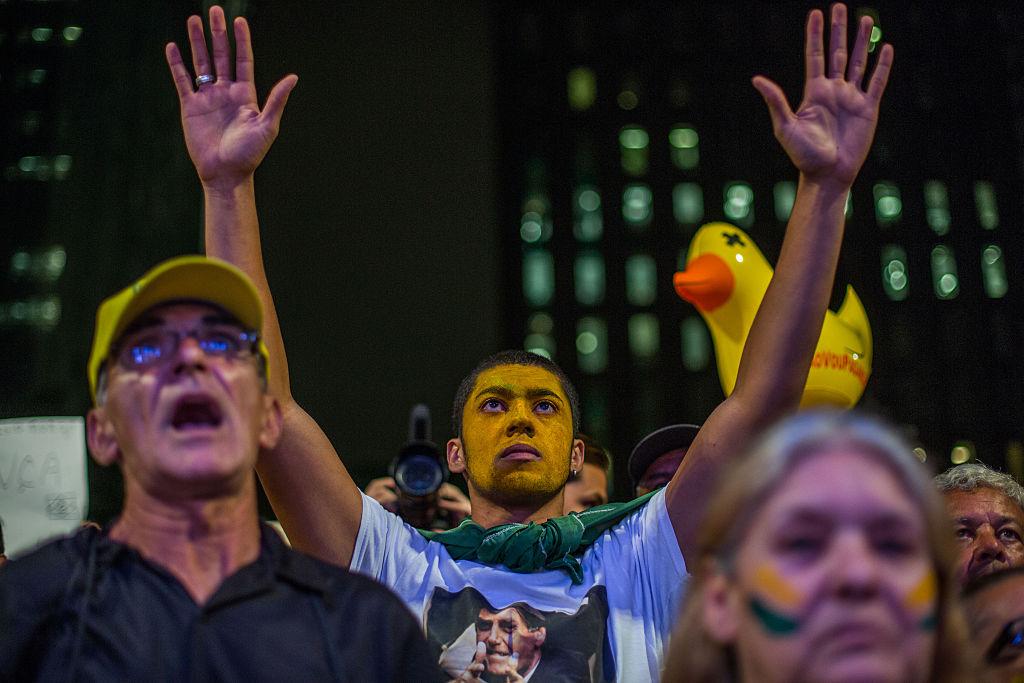 Protesto pelo impeachment e a favor da Lava Jato