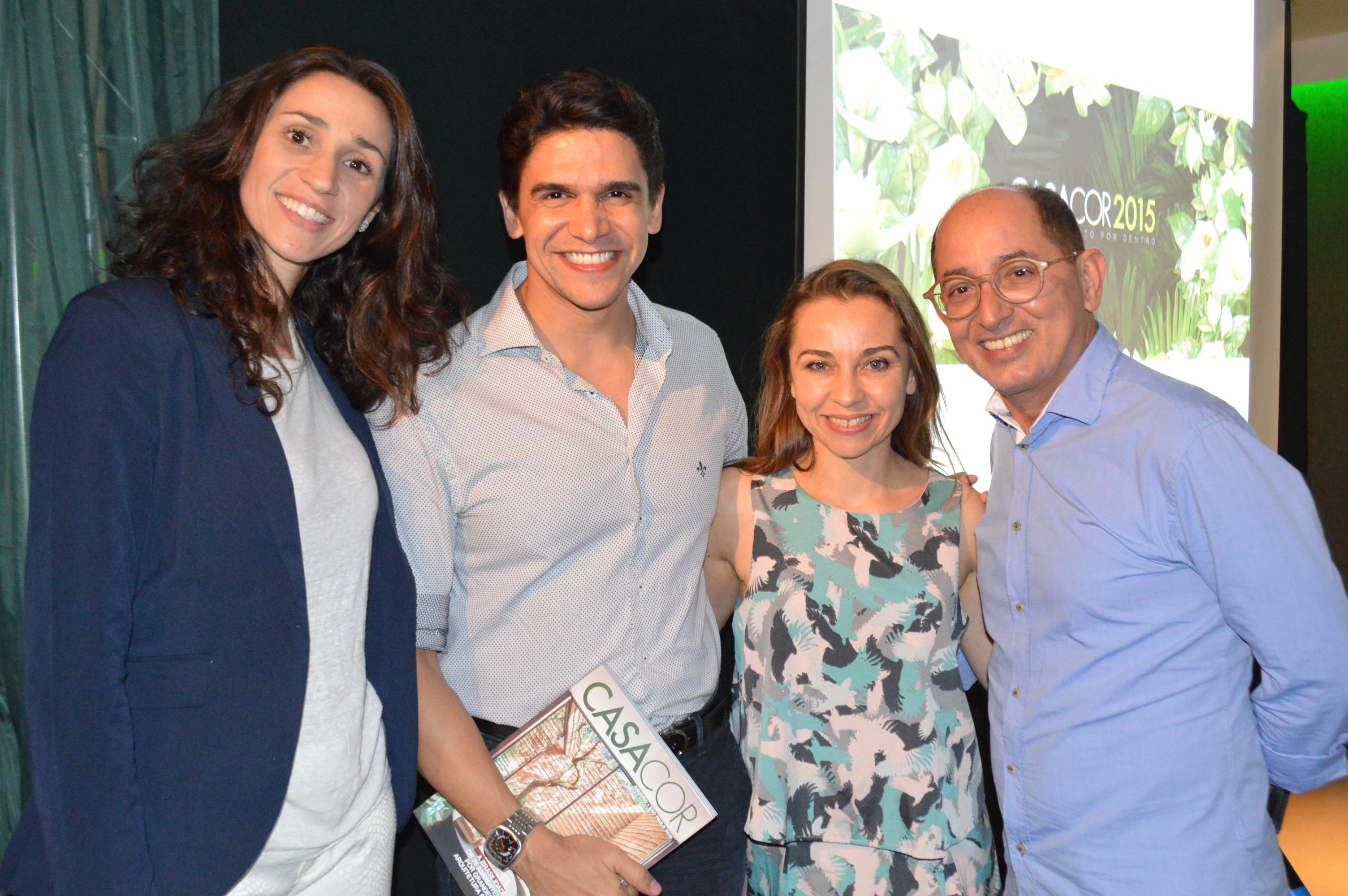 Graziela, Luciano Almeida, Márcia e Cesar Revorêdo
