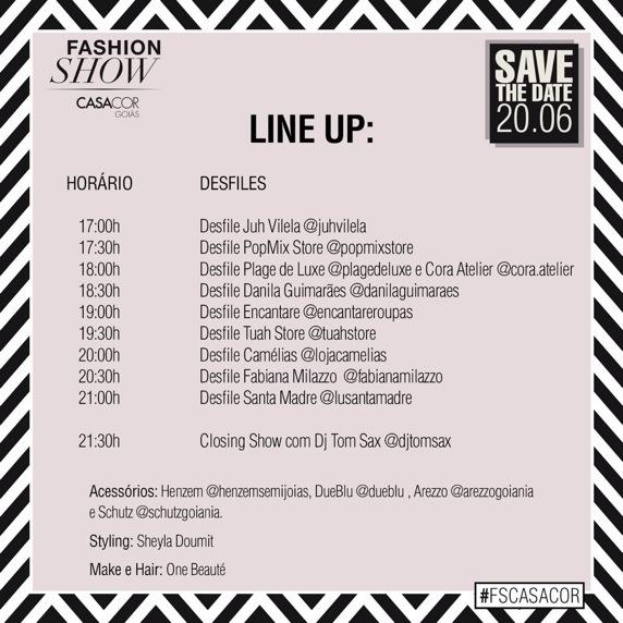 line up fashion show 2016