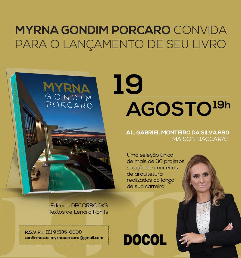 Convite - Livro Myrna Porcaro