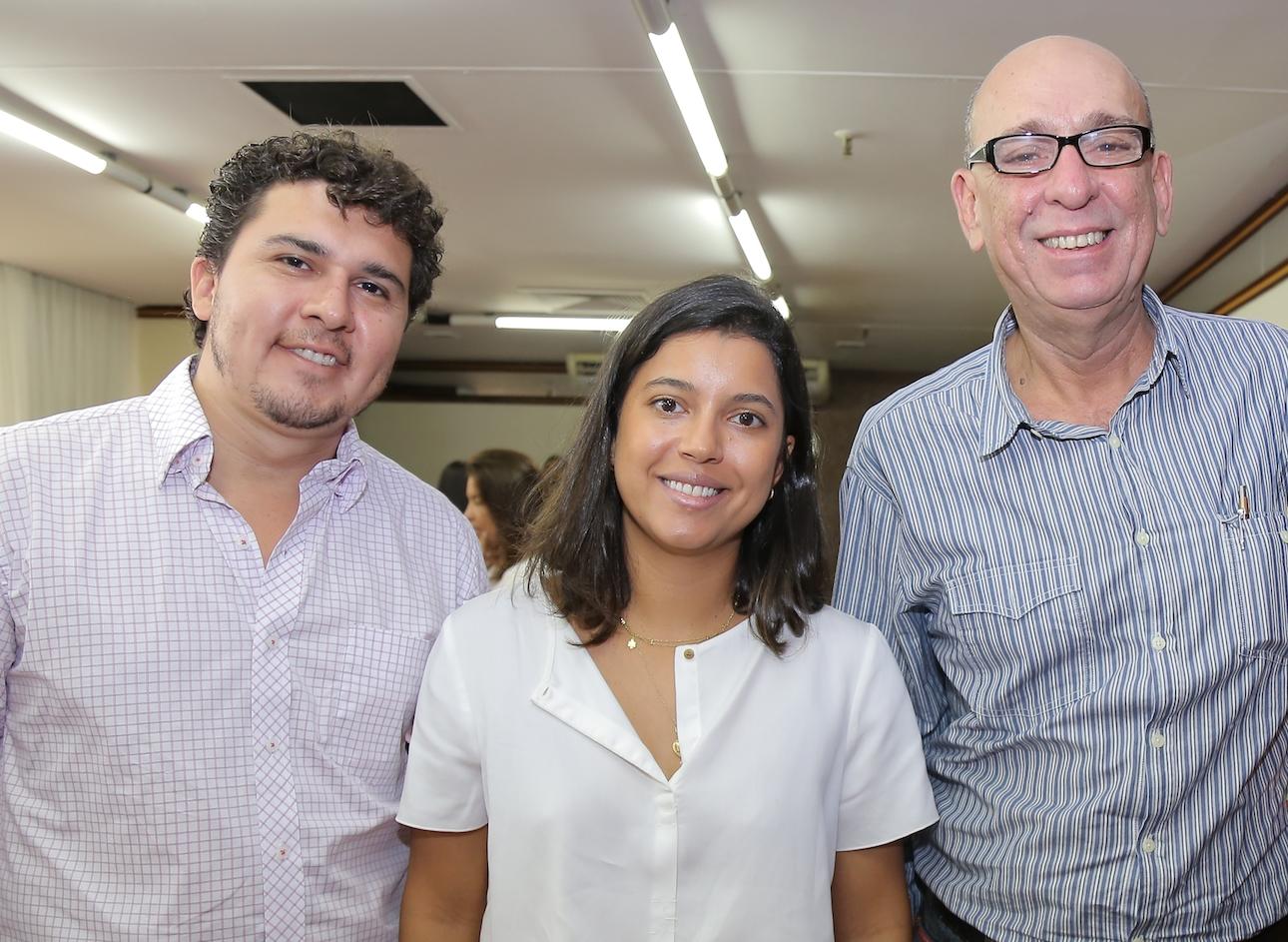 Thiago De Faria, Isabel Araújo (proprietária do Winiká) e Pedro Paulo Luna